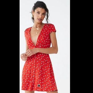 NWT Forever 21 Red with Flower Print Dress